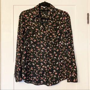 Express Portofino Shirt Black Floral
